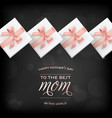 happy mothers day banner gift box greeting card vector image