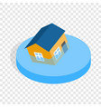 house sinking in a water isometric icon vector image vector image