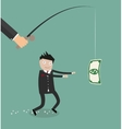Hypnosed by money businessman vector image