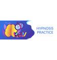hypnosis practice concept banner header vector image vector image