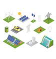 isometric green technologies innovative eco vector image