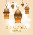 lantern eid al adha concept background realistic vector image vector image