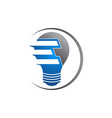 light bulb original simple minimal symbol vector image vector image