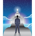 Long road ahead business concept vector image