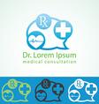 Medical pharmacy logo design template Medic cross vector image