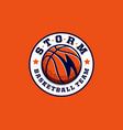 modern professional basketball logo for sport team vector image vector image