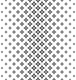Monochrome seamless star pattern vector image vector image