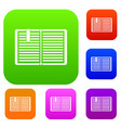 open book with a bookmark set collection vector image vector image
