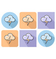 outlined icon of cloud with lightning rainless vector image vector image