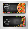 pizza banner isolated vector image vector image