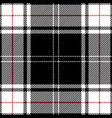 red black white tartan plaid scottish pattern vector image vector image