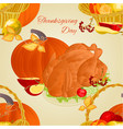 seamless texture thanksgiving day turkey vector image vector image