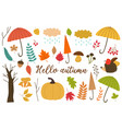 set of isolated elements of autumn vector image vector image