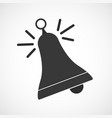 simple flat ringing bell icon vector image