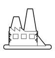 sketch silhouette image building industrial vector image vector image