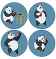 Social networks addicted Panda vector image