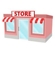 store building small house vector image