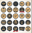super sale retro badges and labels collection vector image vector image