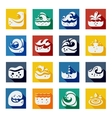 Swirling Wave Color Icons Set vector image vector image