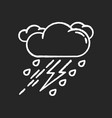 thunderstorm chalk white icon on black background vector image vector image