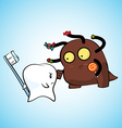 tooth face off pose vector image