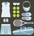 Top View Set Of White Tennis Women Gears vector image vector image