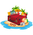 travel element on island vector image vector image