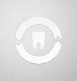 Two arrows in a circle around the tooth vector image vector image