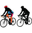 two cyclist vector image