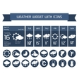 Weather widget icons set vector image vector image