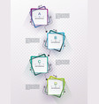 web page design can be used for workflow layout vector image vector image