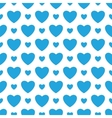 White background with blue hearts vector image