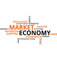 word cloud - market economy vector image