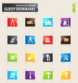 work tools bookmark icons vector image