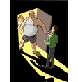 Young man meet father of his girlfrend vector image vector image