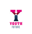 youth future symbol for young people club design vector image
