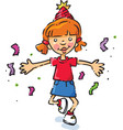 birthday party girl vector image