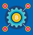 bitcoin blockchain modern technology vector image