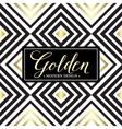 Gold geometric seamless pattern Card template vector image