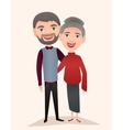 Happy middle aged couple isolated vector image