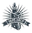 Vape shop logo vector image
