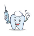 nurse tooth character cartoon style vector image