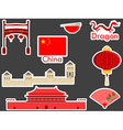 China stickers chinese landmark Forbidden City vector image