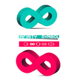 3D Infinity Symbols Set Isolated on White vector image