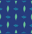 abstract tropical leaves green blue teal seamless vector image