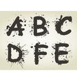 Alphabet a blot2 vector image vector image
