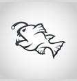 anglerfish logo icon design vector image vector image