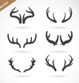 antler icon set vector image