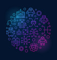 artificial intelligence round colorful vector image
