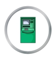 ATM icon in cartoon style isolated on white vector image vector image